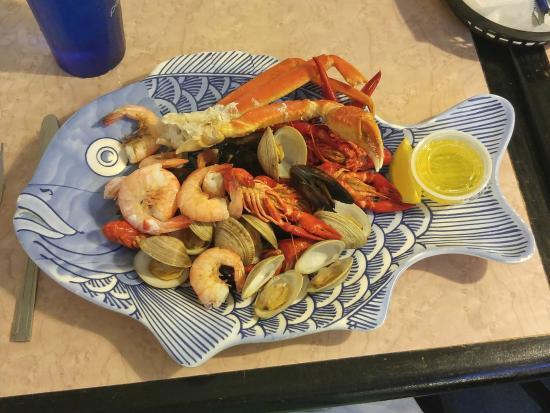 Skip One 41 Seafood Restaurant And Market Sea Monster Platter