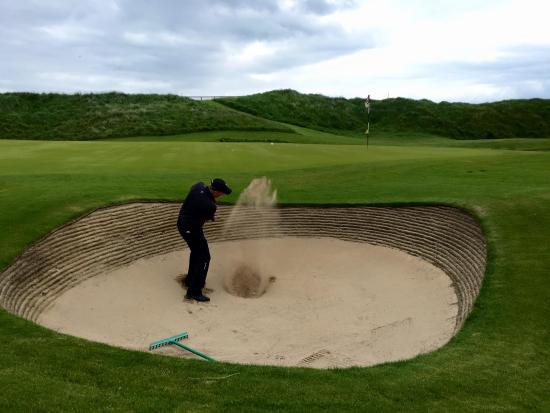 Ballybunion, Ierland: Irish sand traps... no problem.