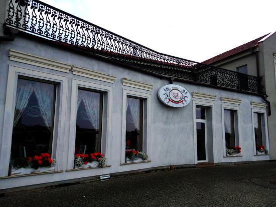 Konin, Polonia: Wejście do restauracji