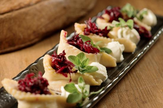 Deming, WA: Pierogis our style with pickled beets