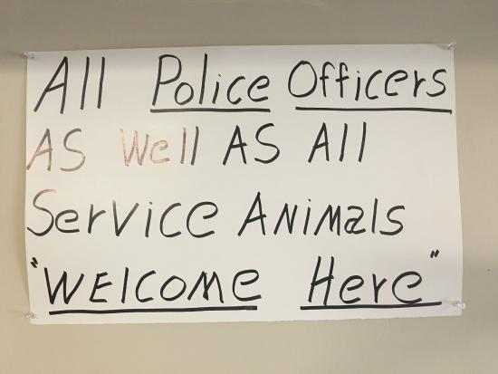 Respect police and military - Picture of Smokey Pig Bar-B-Q