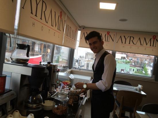 Buffet breakfast picture of ayramin hotel istanbul for Ayramin hotel taksim