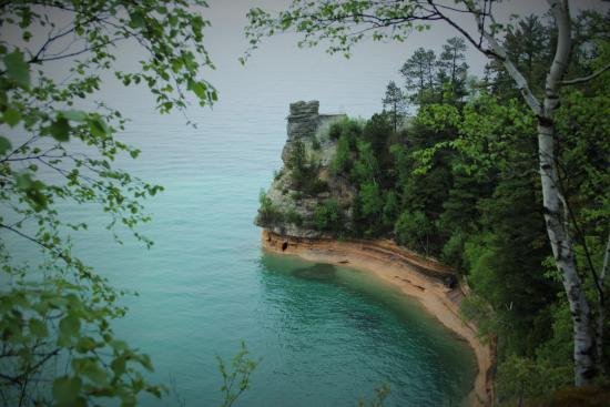 Pictured Rocks National Lakeshore: Miners Castle --look out point quick drive off H58