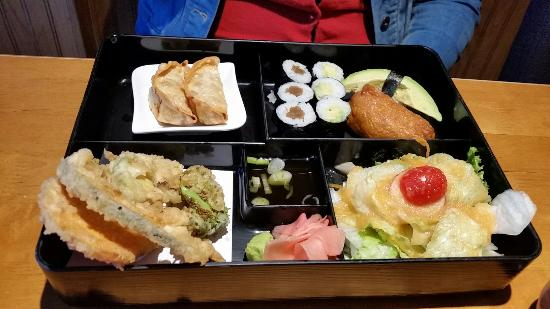 12 piece sushi and veggie bento box picture of sense of. Black Bedroom Furniture Sets. Home Design Ideas