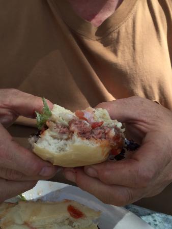 Little Village Cafe: Village cafe knows how to make a med rare burger. a+ guys!