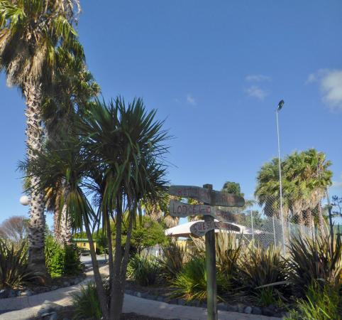Thames, Nueva Zelanda: In the grounds of the Holiday Park