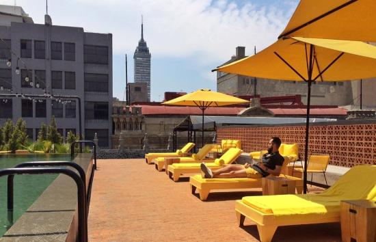 Downtown Beds: Pool terrace with a view.
