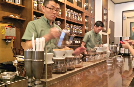 Cafe Bach: Coffee Master Preparing Drip Coffee