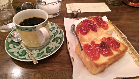 Cafe Bach: Tanzania Coffee, Toast and Jam