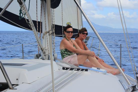 Nevis: ladies enjoying the sun