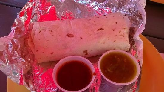 Burrito Company: Delicious but big ! I had a veggie burrito.