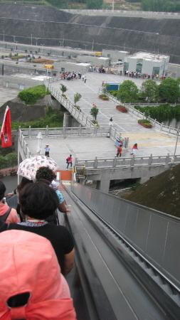 Yichang, China: Taking the escalators down