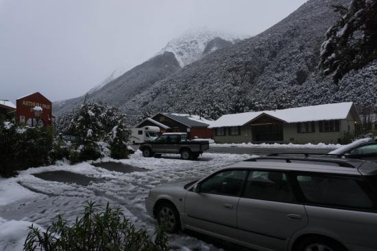Arthur's Pass National Park, Yeni Zelanda: View from Dorm Room 2