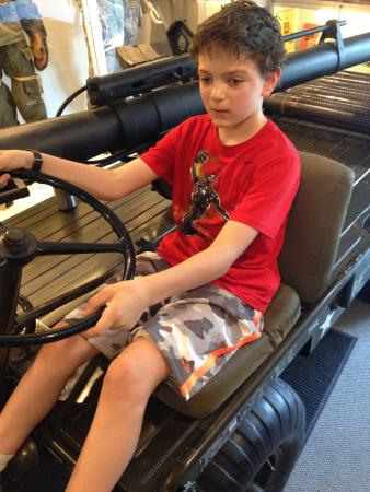 Military Museum of Southern New England : Charlie on a utility vehicle