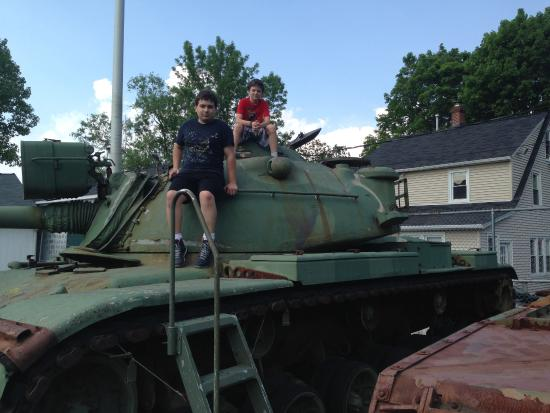 Military Museum of Southern New England: My boys on a tank