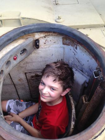 Military Museum of Southern New England: In the driver's seat of a tank