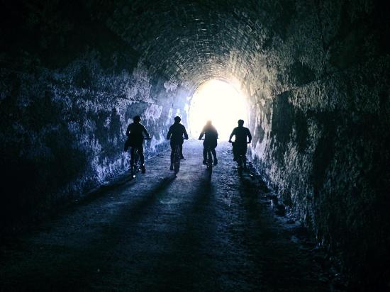 Ohakune, New Zealand: train tunnel