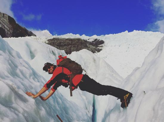 Franz Josef, New Zealand: Thanks Nick for the incredible hike! Keep up those push ups 😃😎