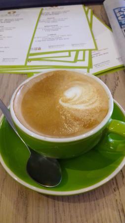 Hawthorn, Australien: Strong flat white coffee