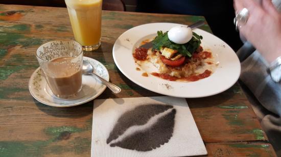 Brunswick, Australia: Here's the 'Stack' plus OJ plus Latte (double shot)
