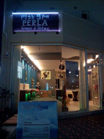 Stalos, Greece: fish spa PERLA