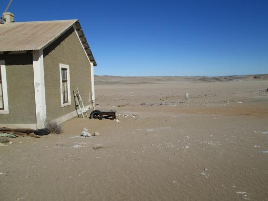 Luderitz, Namibia: Water Pump Worker House in Isolated Dessert