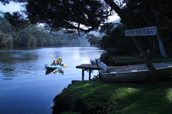 Ulverstone, Australia: Kayaking in the river