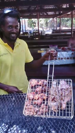 Praslin Island, Seychelles: Brian our cook and entertainment!!!!!!!!! @ Curieuse Island