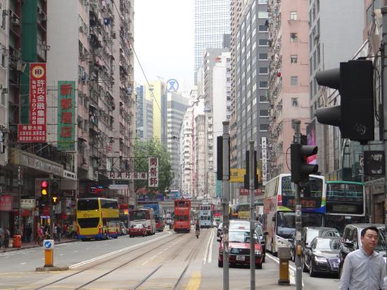 Check Inn HK: Street around the hostel