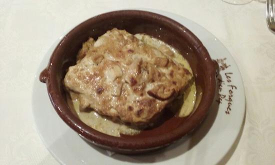 Toses, İspanya: Lasanya de patata amb ceps