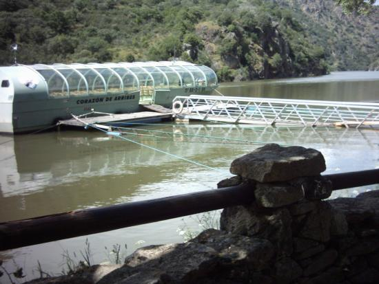 Aldeadávila de la Ribera, España: Como se puede verla pasarela se mete en el agua, cuidado si vais con niños.