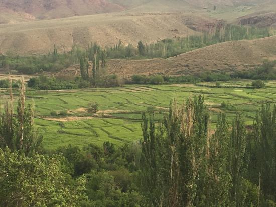 Abyaneh, Иран: Aussicht von der Terrasse
