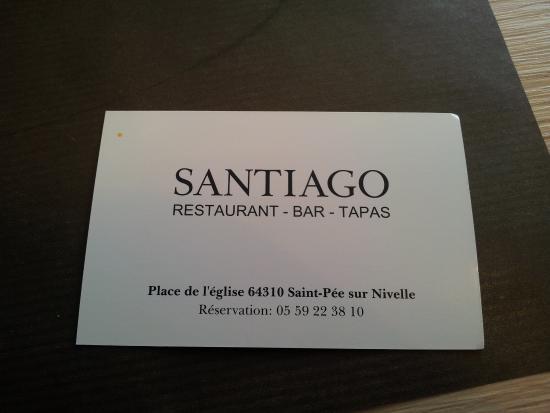 La Carte De Visite Du Santiago