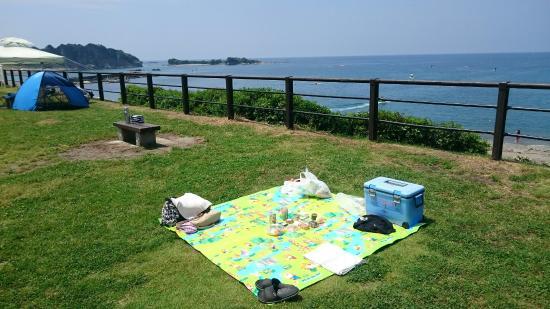 Hayama-machi, Japão: 葉山公園 5月最終日曜に行きました。 公園内では芝生が有り、ピクニック気分、砂浜ではBBQが出来ます。岩場も有り磯遊びも出来ます。海も湘南海岸より綺麗です、トイレも綺麗に清掃されています。