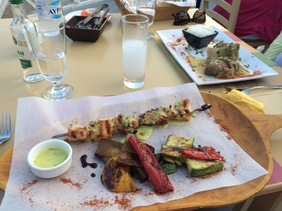 Anogi: Chicken Souvlaki and Lamb
