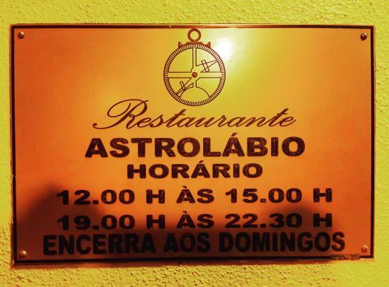 Paco de Arcos, Portugal: Nazwa restauracji
