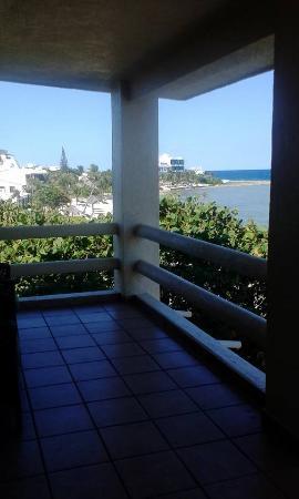 balcony with view of beach and ocean Hacienda De La Tortuga.