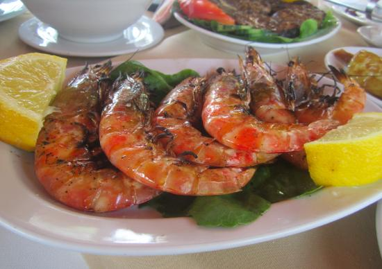 Boukari, Greece: креветки