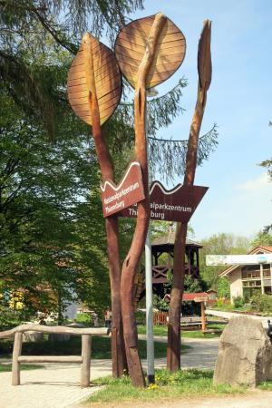 Baumkronenpfad: am Infocenter und Forsthaus