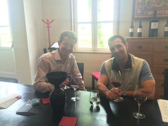 Gourmet Touring: John and Chris at Chateau Clinet