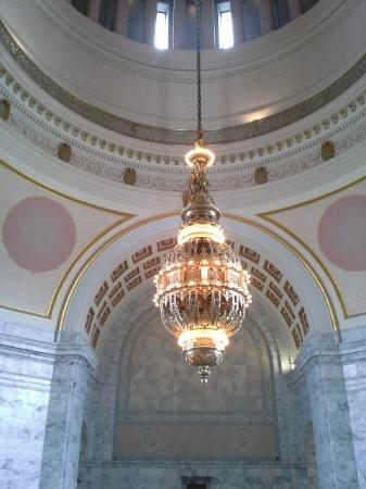 Tiffany chandelier picture of washington state capitol olympia washington state capitol tiffany chandelier mozeypictures Gallery