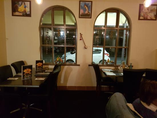 Origin Indian Tandoori Restaurant: Looking out onto Frederick St.