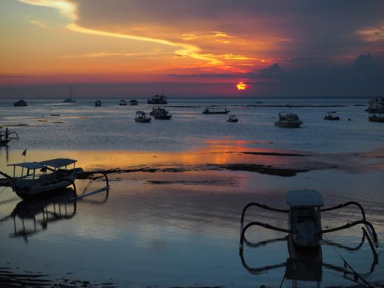Bunga Bungalo: coucher de soleil.