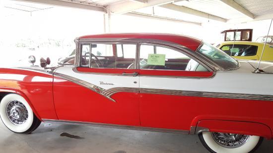 Outdoor Vintage Cars Display Under Carport Ford Victoria Circa
