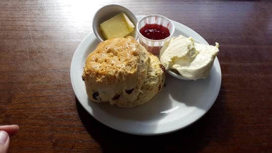 The Best Scone With Clotted Cream And Strawberry Jam Picture Of The Potting Shed Cafe Grasmere Tripadvisor