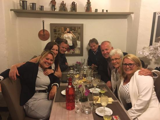 Taverne St Veran: One of our wonderful dinners at St Veran