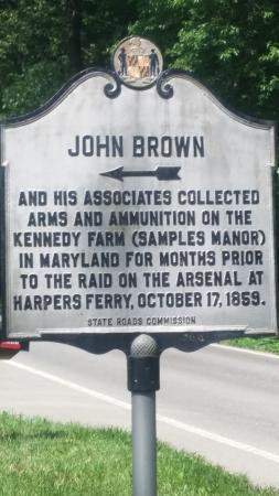 Sharpsburg, แมรี่แลนด์: Label on the road