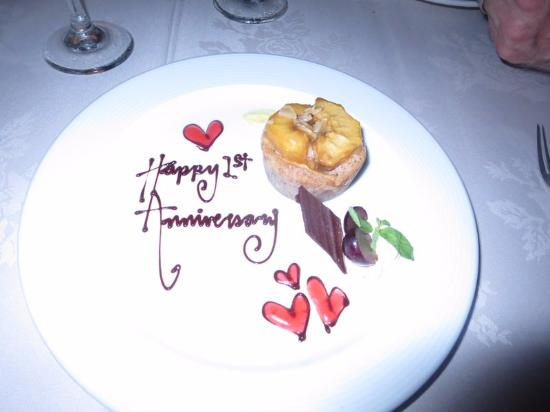 Decorated Dessert For A Happy 1st Anniversary Picture Of