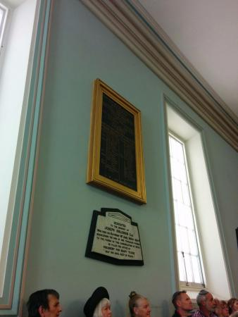 Hobart Synagogue: plaque by founders
