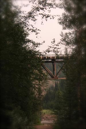 Dawson Creek, Canada: The Old Kiskatinaw Bridge